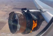 Photo of Panic as a United Airlines Engine Explodes on Takeoff