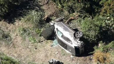 Photo of 'Lucky to be Alive' Tiger Woods Totals Car